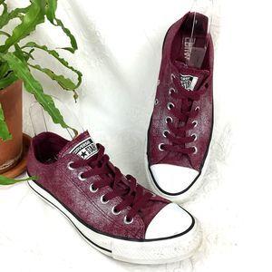 Converse All Star Maroon Silver Sneakers 8 EU 39